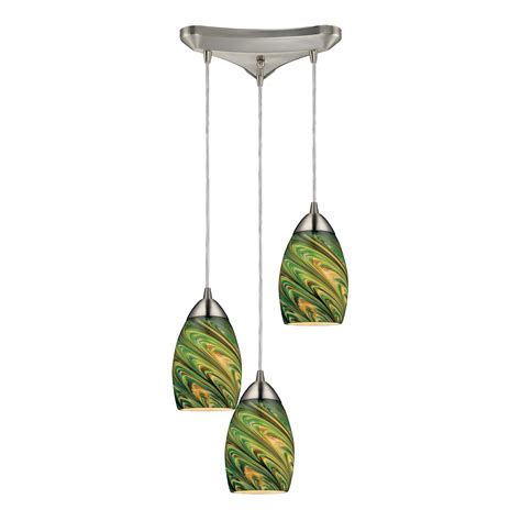 elk lighting 10089 3evg mini vortex 3 light multi pendant