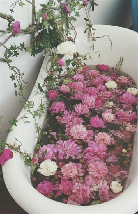 flowers in bathtub bathroom decor tumblr image 4062455 by winterkiss on