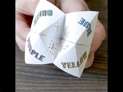 How To Make A Chatterbox Out Of Paper - how to make an origami chatter box fortune teller