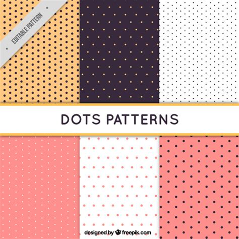 dots pattern freepik six patterns with dots vector free download