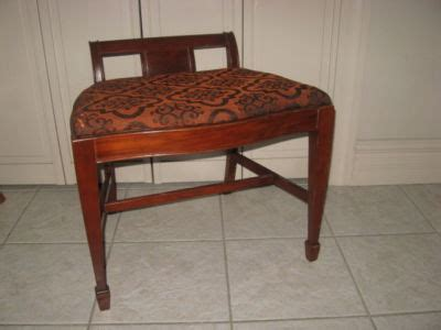 antique waterfall vanity bench antique waterfall wood vanity chair bench stool antique