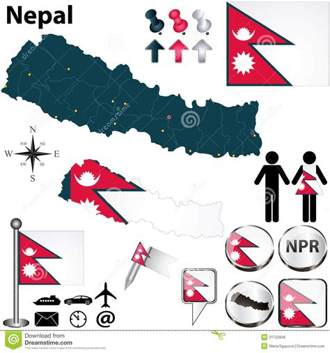 nepal map vector map of nepal royalty free stock image image 31722846