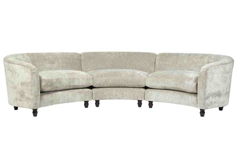 Curve Sofas Italian Curved Sofa At 1stdibs Custom Curved Fabric Sofa