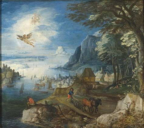 Landscape With The Fall Of Icarus Painting Landscape With The Fall Of Icarus Painting By Joos De