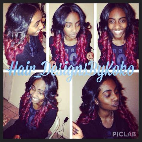 colorful sew ins middle part 17 best images about sew ins on pinterest bobs i did