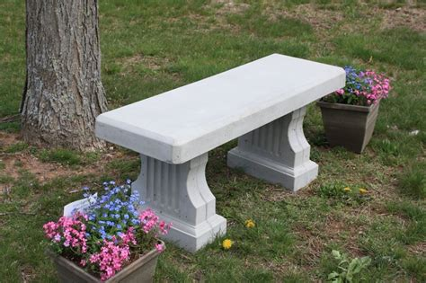 cement garden bench concrete coliseum bench w straight seat site furnishings