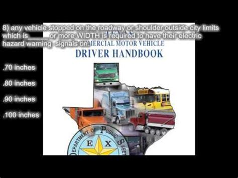 Texas Cdl Handbook Section 14 Special Requirements