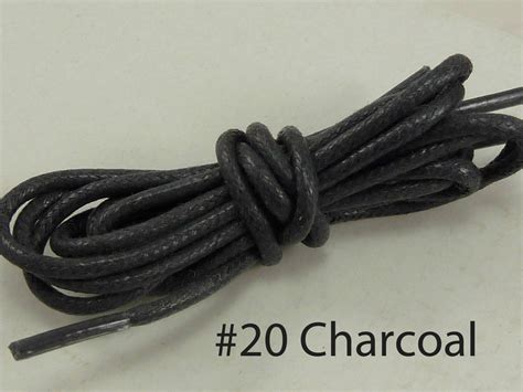 new pair cotton waxed colored dress shoelaces laces
