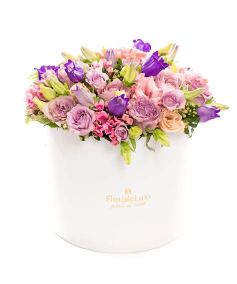 flori de cutie magnifica cu flori multicolore floridelux ro