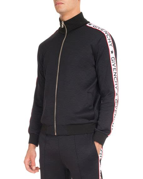 House Designer Online by Givenchy Track Jacket With Logo Taping Black