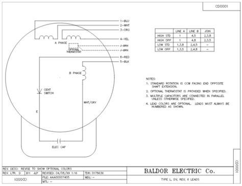 baldor motor capacitor wiring chart wiring diagrams