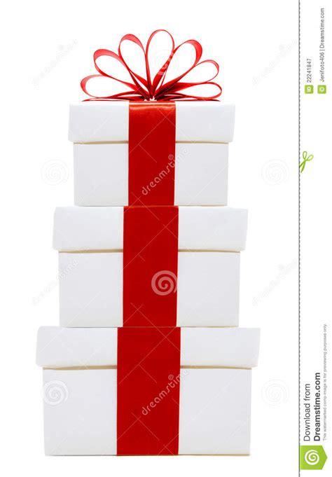 white christmas gift boxes stacked stock image image