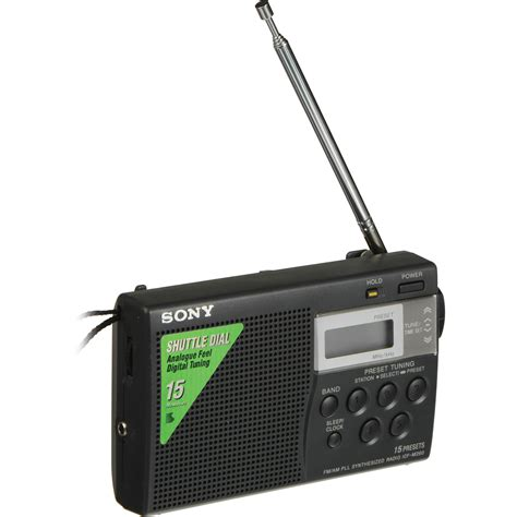 Sony Radio sony am fm digital pocket radio icfm260 b h photo