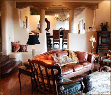 santa fe home decor i love the use of dividing walls in this space santa fe