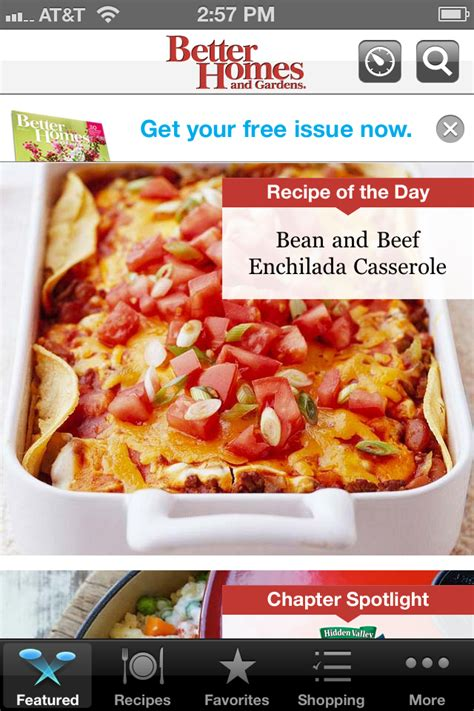 food app review of the week must have recipes from better homes and gardens toque