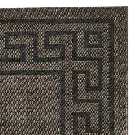 Key Outdoor Rug by Faux Key Indoor Outdoor Rug Swatch Brown Black Williams Sonoma