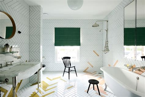 Kitchen Wallpaper Designs Ideas by Faye Toogood White Tiled Wetroom Bathroom Ideas