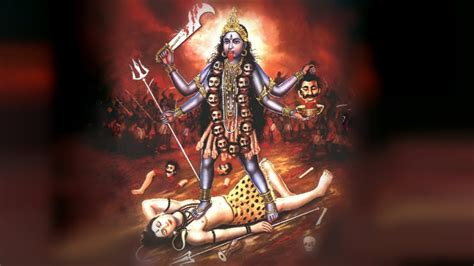 maã e this picture of maa kali atop shiva has many meanings at