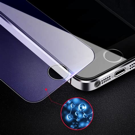 anti blue tempered glass  iphone  se    pieces
