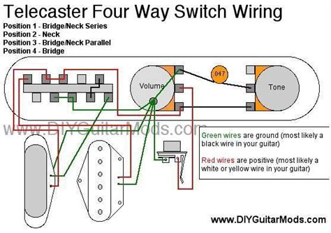 telecaster 4 way switch wiring diagram cool guitar mods