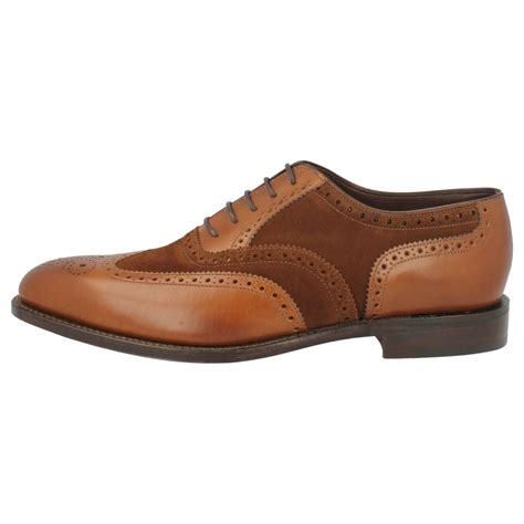 two tone mens shoes mens loake classic two tone brogue lace up shoes sloane