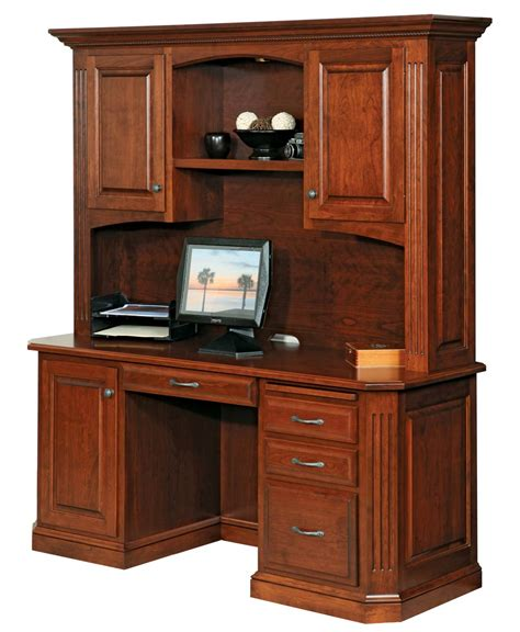credenza desk buckingham credenza and hutch amish direct furniture