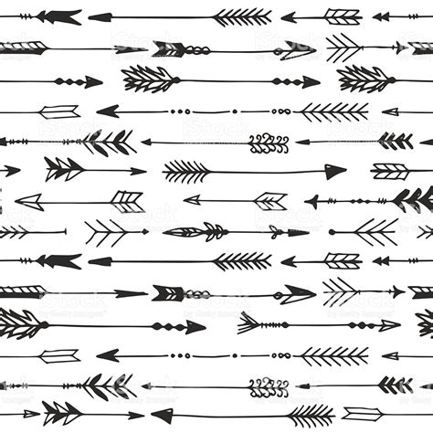 arrow pattern svg arrow rustic seamless pattern hand drawn vintage vector