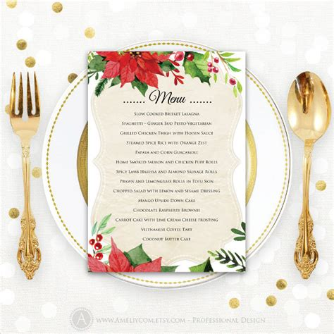 holiday menu template 25 free pdf eps psd format