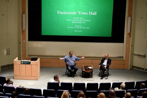 Dartmouth Mba Info Session by Valley News Dartmouth Trustee Chairman Discusses College