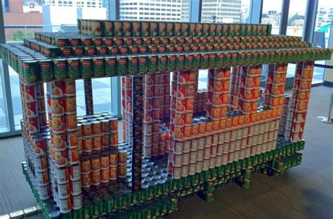 canned food sculpture ideas foodista canstruction san francisco features cantastic art