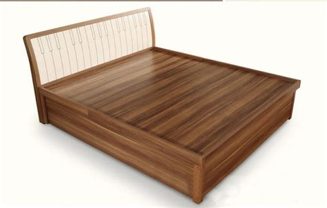 Qa02 Modern Wood Double Bed Designs With Box Latest Wooden