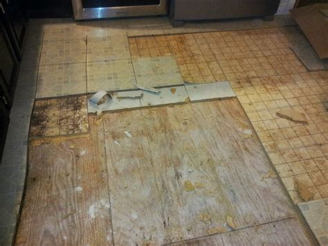 Lino Flooring by Our Kitchen Floor Demolition Has Begun Ian Francis