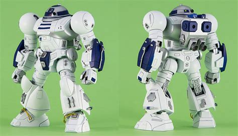 Muscular Sci Fi Robots : Hi2 D2 Enhanced Astromech Droid