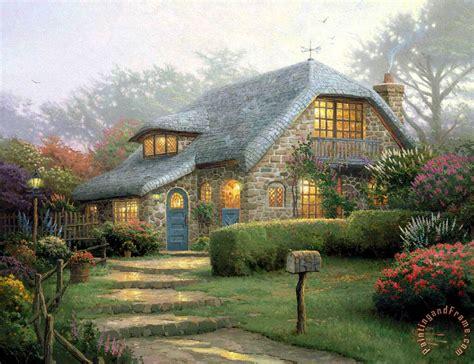 thomas kinkade lilac cottage painting lilac cottage