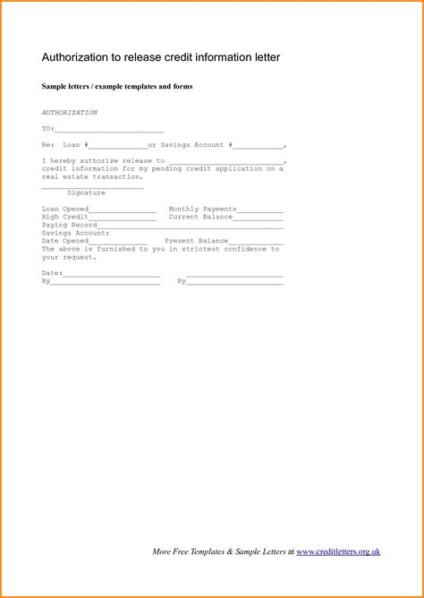 authorization letter pdf authorization letter to release information