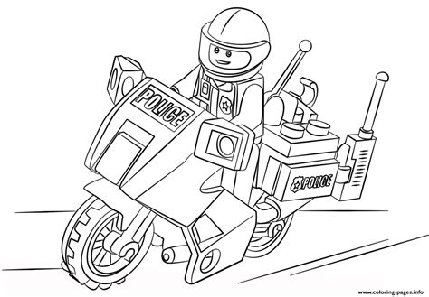 Legos Coloring Pages To Print by Lego Moto City Coloring Pages Printable