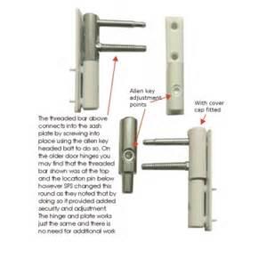 sfs estetic 2d upvc door hinge white brown adjustable