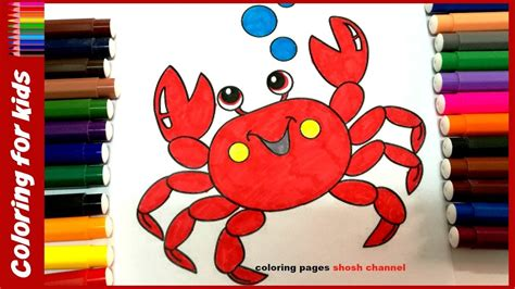 crab colors sea animals coloring pages how to color crab coloring