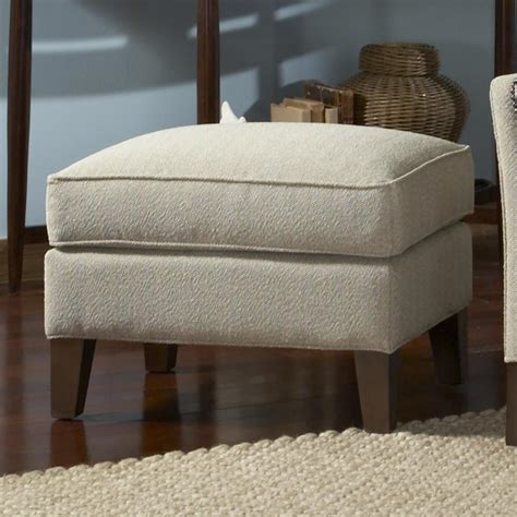 ottoman with wood legs ottoman with tapered wood legs by smith brothers wolf