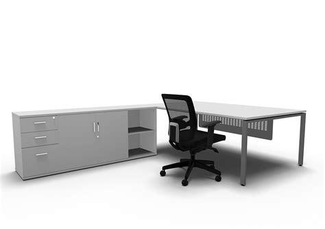 desk with side storage evolution manager desk with side storage entrawood