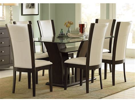 dining room table sets leather chairs beige leather dining room chairs alliancemv