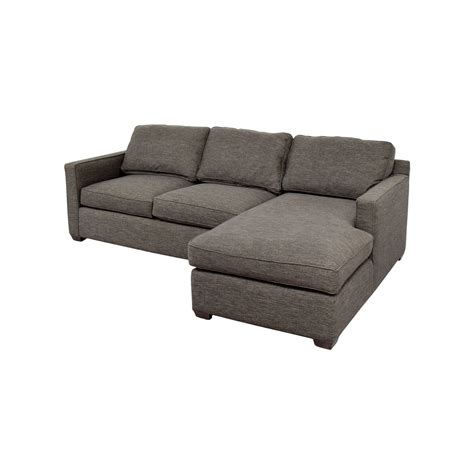 crate and barrel davis sectional 63 off crate and barrel crate barrel davis grey