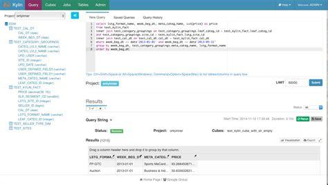 Tutorial Web Query | apache kylin kylin web interface