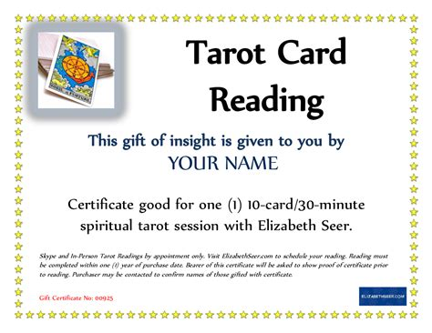 Tarot Card Reading Templates Free by Give The Gift Of Tarot Elizabeth Seer