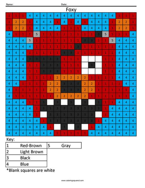 five nights at freddy s coloring book great coloring pages for and adults unofficial edition books color by number coloring squared