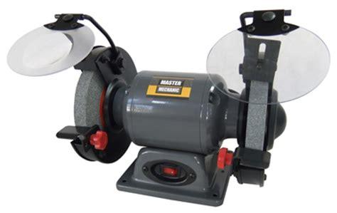 2 hp bench grinder master mechanic 6 in bench grinder 2 1a 1 3 hp tds 150eb