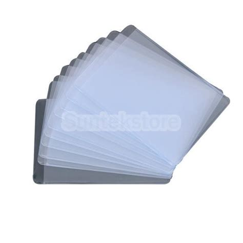 Plastic Protector by New 2015 Brand New 2x 10pcs Card Soft Plastic Clear