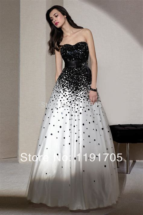 ball gown prom dresses 2014 free shipping sexy strapless beaded black prom dress 2014