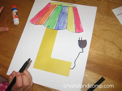 Crafting L by Alphabet Activities For Preschoolers L Is For L