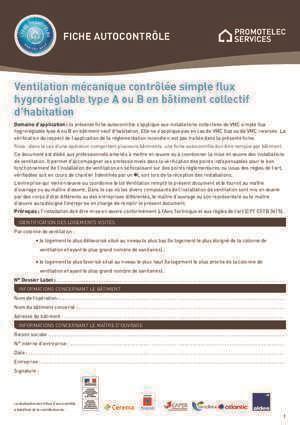 ventilation mécanique 2017 fiche autocontrole air eau notices et pdf gratuits